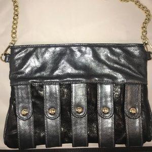 NEW Rebecca Minkoff swing chain leather clutch bag